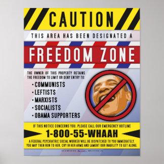 Poster de la zona de la libertad póster