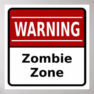 Poster de la zona del zombi