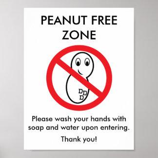 Poster de la zona franca del cacahuete póster