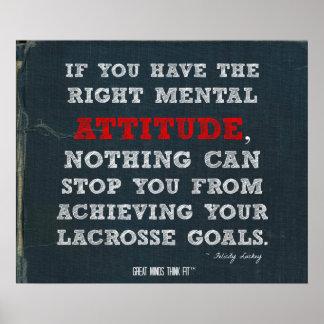 ¡Poster de LaCrosse con actitud y metas!