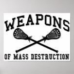 Poster de LaCrosse de las armas de destrucción mas