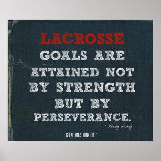 ¡Poster de LaCrosse para la perseverencia!