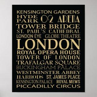 Poster de las atracciones de Londres