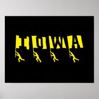 """Poster de las """"banderas"""" del fútbol de Iowa"""
