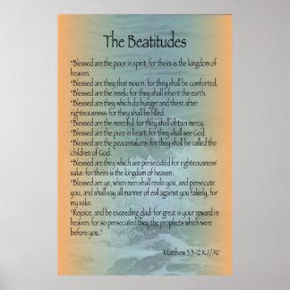 Poster de las beatitudes (resaca de Sanibel)