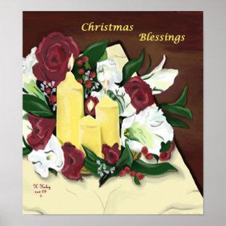 Poster de las bendiciones del navidad