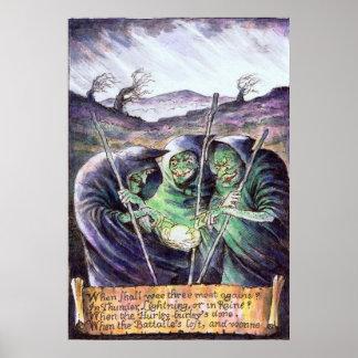 Poster de las brujas de Macbeth