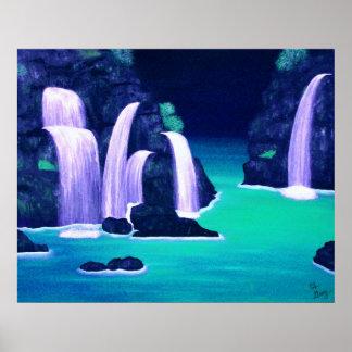Poster de las cascadas - aguamarina