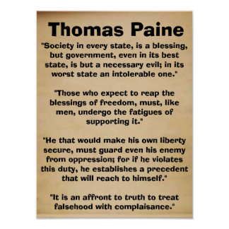 Poster de las citas de Thomas Paine