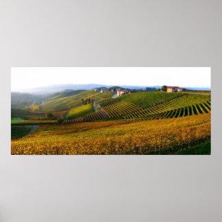 Poster de las colinas de Langhe del italiano