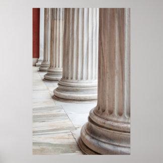 Poster de las columnas del Griego clásico