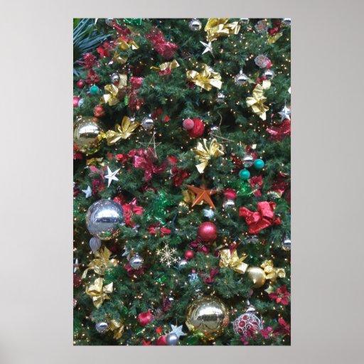 Poster de las decoraciones del navidad