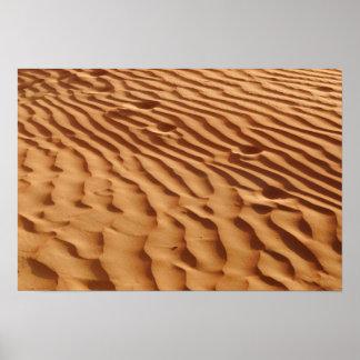 Poster de las dunas de arena