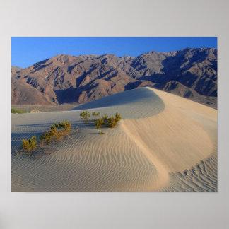 Poster de las dunas y de las montañas de Death