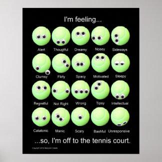 Poster de las emociones de las pelotas de tenis