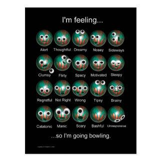 Poster de las emociones de los bolos postal