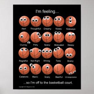 Poster de las emociones del baloncesto