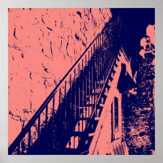 Poster de las escaleras del coral/de los azules ma