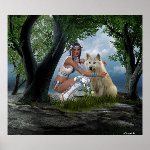 Poster de las escenas del nativo americano