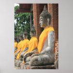 Poster de las estatuas de Buda