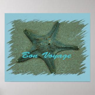 Poster de las estrellas de mar del buen viaje
