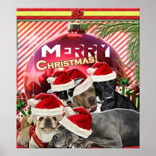 Poster de las Felices Navidad (edición del perro)