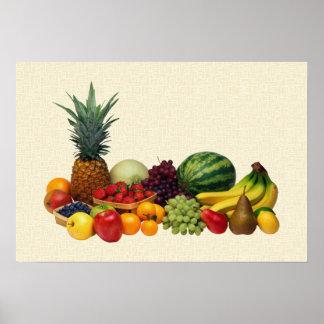 Poster de las frutas y de las bayas