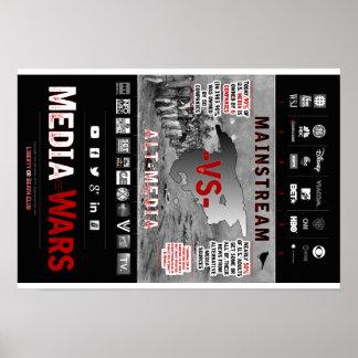 Poster de las guerras de medios