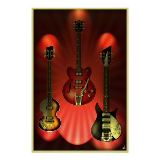 Poster de las guitarras del vintage