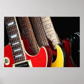 Poster de las guitarras eléctricas