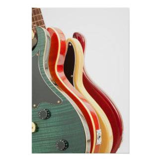 Poster de las guitarras eléctricas póster