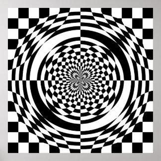 Poster de las ilusiones ópticas (a partir del $11,