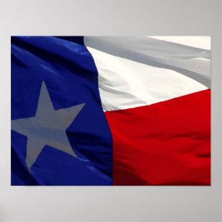 Poster de las ilustraciones de la bandera de Tejas