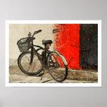 Poster de las ilustraciones de la bicicleta del vi