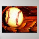 Poster de las ilustraciones de la bola del béisbol
