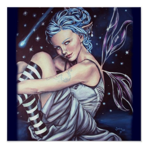 poster de las ilustraciones del faery de las estre