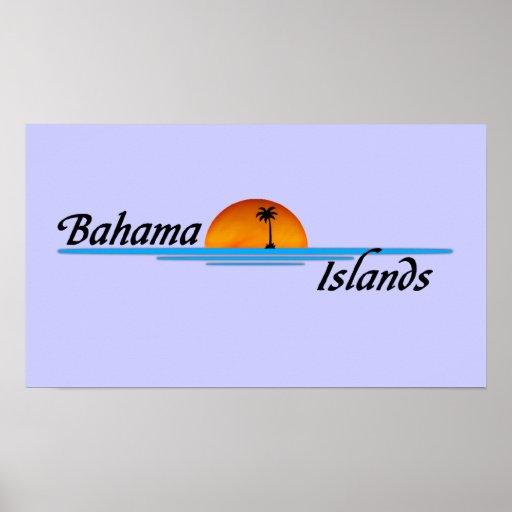 Poster de las islas de Bahama