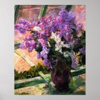 Poster de las lilas de Mary Cassatt Póster