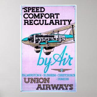 Poster de las líneas aéreas del vintage 1930