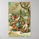 Poster de las manzanas del navidad del frunce de l