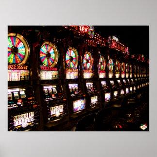 Poster de las máquinas tragaperras de Las Vegas