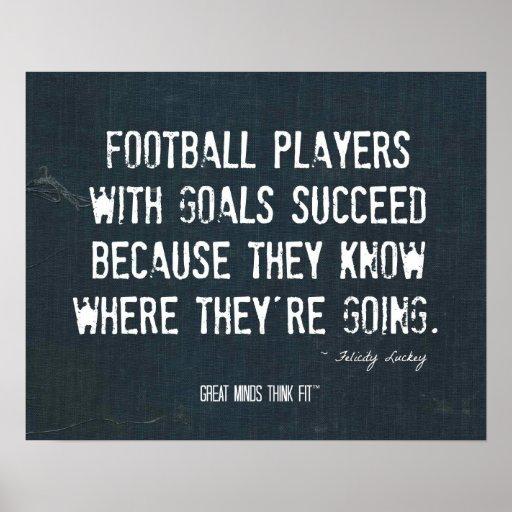 Poster de las metas del fútbol en dril de algodón
