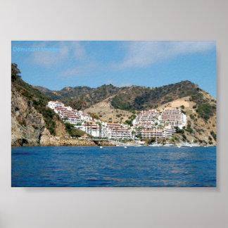 Poster de las montañas de la isla de Catalina