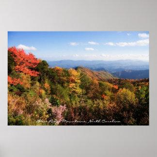 Poster de las montañas del NC
