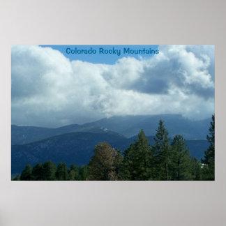 Poster de las montañas rocosas de Colorado