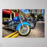 Poster de las motocicletas de Harley Davidson