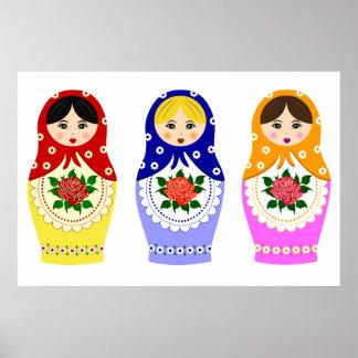 Poster de las muñecas de Matryoschka