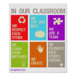Poster de las normas de la sala de clase