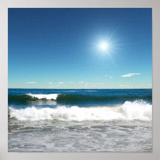 Poster de las olas oceánicas póster