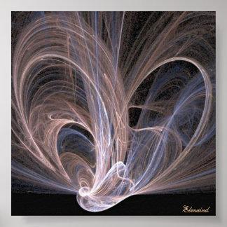 Poster de las ondas de luces póster